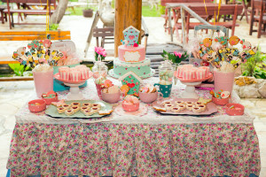 Prepared birthday table with sweets for children party ** Note: Visible grain at 100%, best at smaller sizes