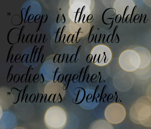 Sleep is a golden Chain
